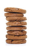 Czekoladowego układ scalony ciastka Zdjęcie Royalty Free