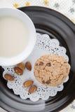 Czekoladowego układ scalony ciastka Fotografia Royalty Free
