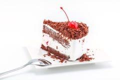 Czekoladowego układu scalonego tort Fotografia Royalty Free