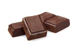 czekoladowego zmroku odosobneni kawałki obraz royalty free