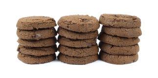 czekoladowej ciastka kopii bezpłatny stert cukier Fotografia Stock