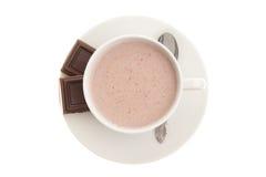 czekoladowej filiżanki gorąca łyżka Obrazy Royalty Free
