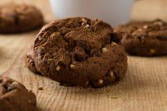 Czekoladowi biskwitowi ciastka Zdjęcie Royalty Free