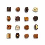 Czekoladowi candys ustawiający Fotografia Stock