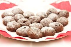 czekoladowi ciastka zdjęcia stock