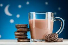Czekoladowi ciastka i kakao zdjęcie royalty free