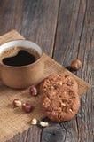 Czekoladowi ciastka i kawa Obraz Stock