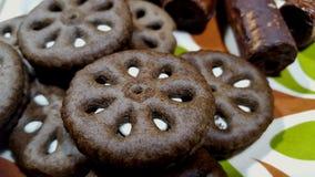 Czekoladowi ciastka z oryginalnym smakiem obraz stock