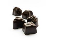 czekoladowi cukierki Zdjęcia Royalty Free