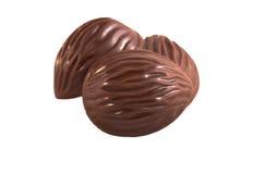 Czekoladowi cukierki odizolowywający zdjęcie stock