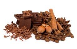 czekoladowi cynamonowi hazelnuts Zdjęcie Stock