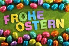 Czekoladowi Easter jajka Zdjęcie Royalty Free