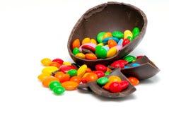 czekoladowi Easter jajka cukierki Zdjęcie Stock