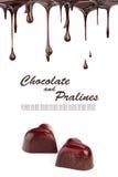 czekoladowi gorący pralines Fotografia Royalty Free