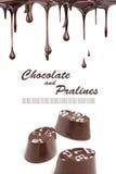czekoladowi gorący pralines Zdjęcie Stock