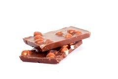 czekoladowi hazelnuts Zdjęcia Royalty Free