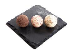 czekoladowi inkasowi różni pralines Zdjęcia Royalty Free