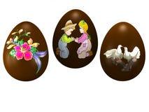 czekoladowi jajka Obraz Stock
