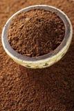 czekoladowi kakaowi kawałki pudrują małego zdjęcia stock