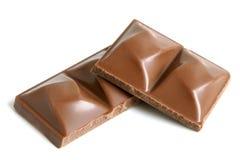 czekoladowi kawałki Obrazy Royalty Free