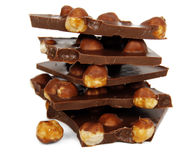 czekoladowi kawałki Fotografia Royalty Free