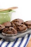 czekoladowi muffins Zdjęcia Royalty Free