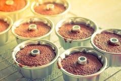 Czekoladowi muffins (Filtrujący wizerunek przetwarzający rocznik ef zdjęcie royalty free