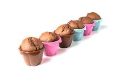 Czekoladowi muffins z rodzynkami Obrazy Stock
