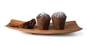 Czekoladowi muffins z rodzynkami Fotografia Royalty Free