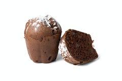 Czekoladowi muffins z rodzynkami Zdjęcia Royalty Free
