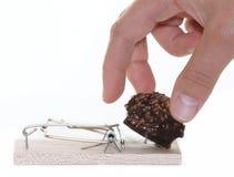 Czekoladowi nałogu i zdrowie diety koncerny Zdjęcie Stock