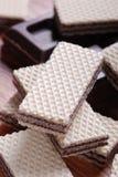 czekoladowi opłatki Zdjęcia Royalty Free
