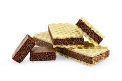 czekoladowi porowaci plasterki dwa opłatka Fotografia Stock