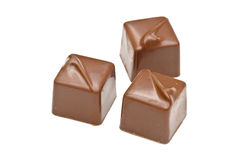 czekoladowi pralines Zdjęcia Stock