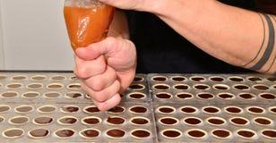 czekoladowi pralines Zdjęcia Royalty Free
