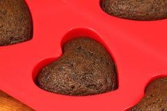 czekoladowi serca Zdjęcia Stock