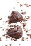 czekoladowi serca Obrazy Royalty Free