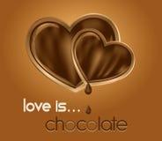 czekoladowi serca Obraz Stock