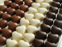 czekoladowi serca Obrazy Stock