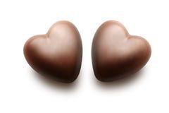 czekoladowi serca dwa Obraz Stock
