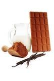 czekoladowi składniki obraz royalty free