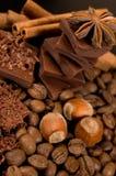 czekoladowi składniki Zdjęcie Royalty Free