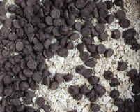 Czekoladowi układy scaleni i oatmeal Zdjęcie Royalty Free
