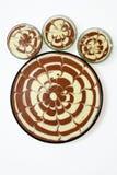 Czekoladowi wanilia torty fotografia stock