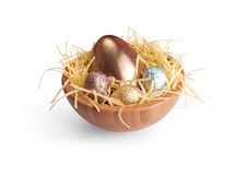Czekoladowi Wielkanocni jajka obrazy stock
