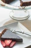 czekoladowy świeży tarta Fotografia Stock
