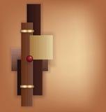 Czekoladowy art deco geometryczny tło Fotografia Royalty Free