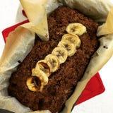 Czekoladowy bananowy chleb Zdjęcie Royalty Free
