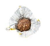 Czekoladowy bonbon odizolowywający na białym tle obraz stock