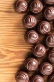 Czekoladowy candys zbliżenie Fotografia Stock